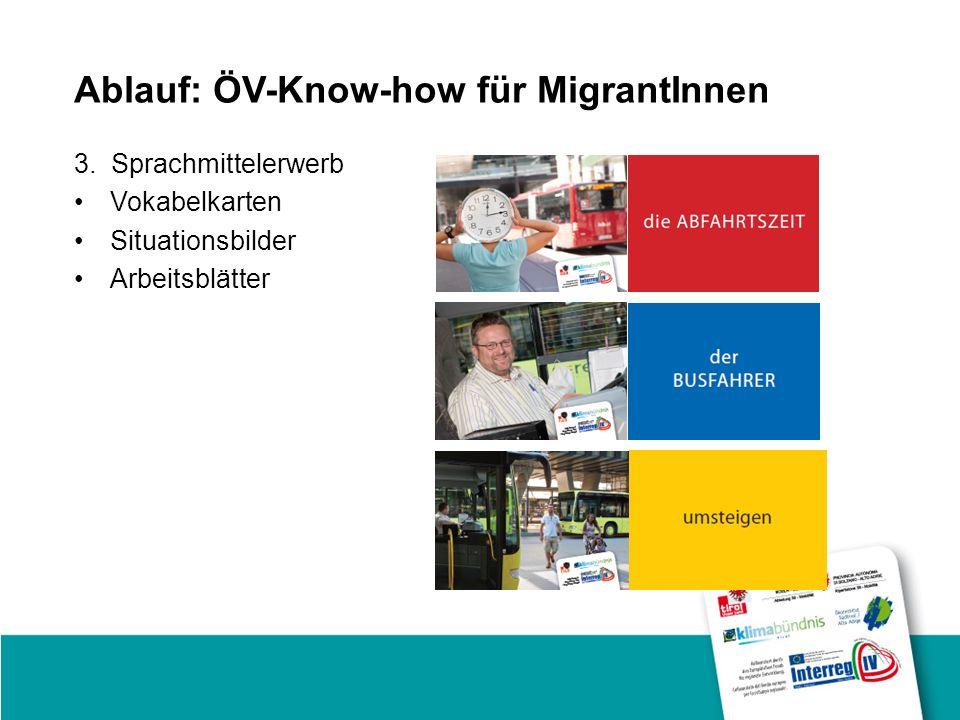 Ablauf: ÖV-Know-how für MigrantInnen 3.
