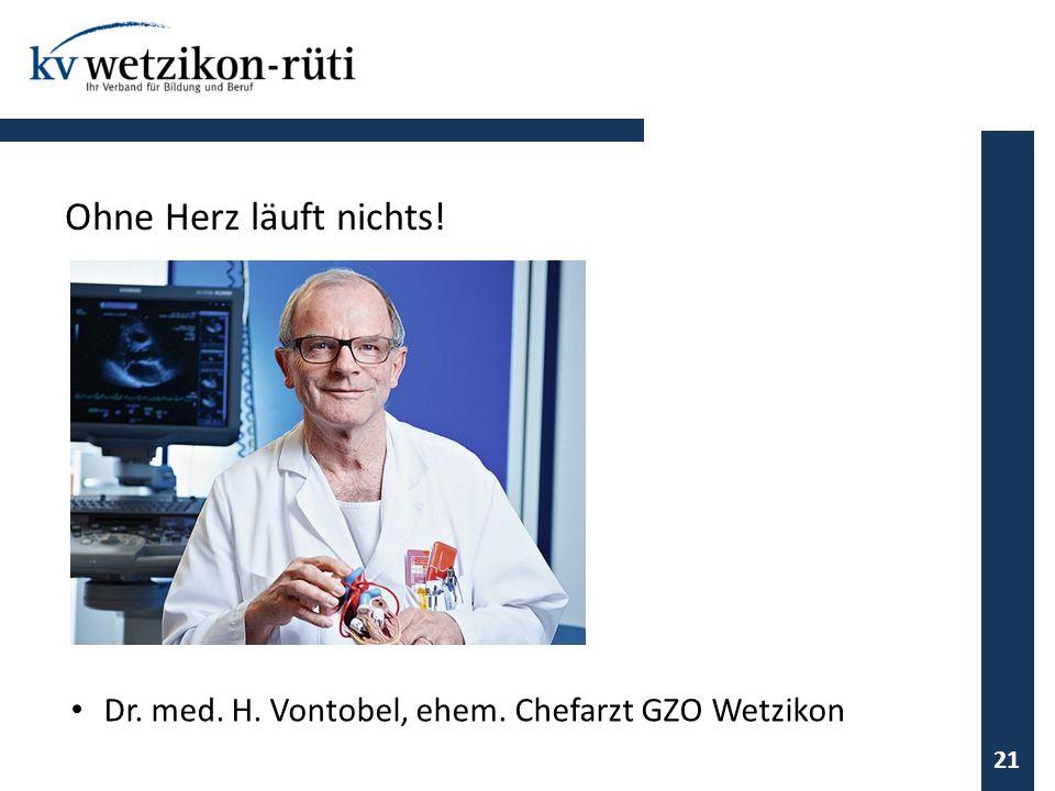 21 Ohne Herz läuft nichts! Dr. med. H. Vontobel, ehem. Chefarzt GZO Wetzikon