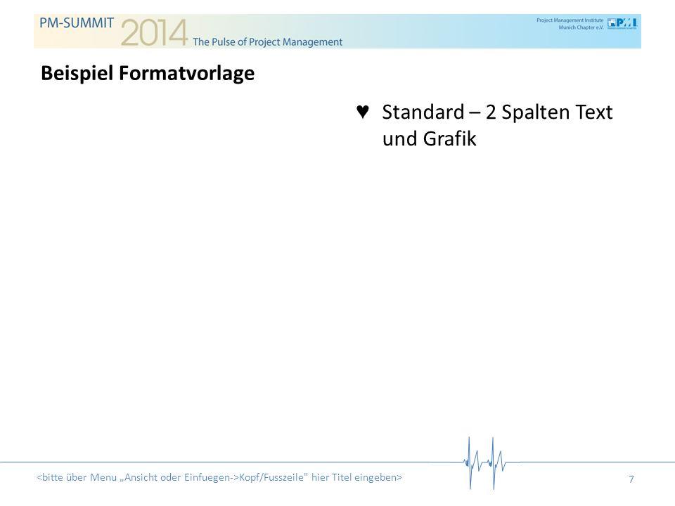 Standard – 2 Spalten Text und Grafik Kopf/Fusszeile