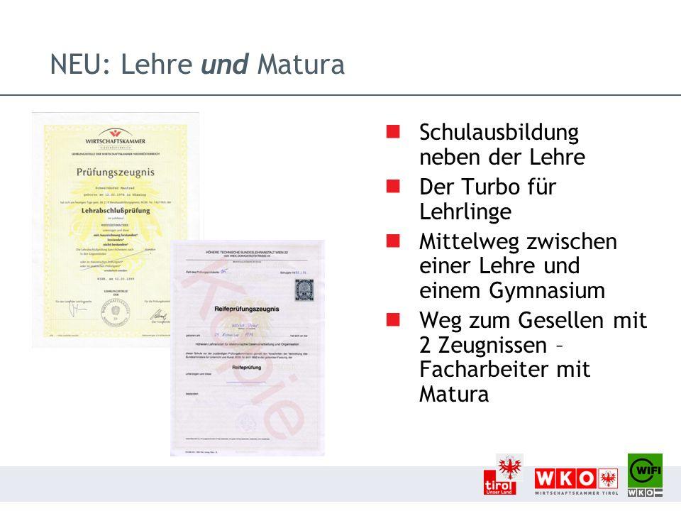 Ansprechpartner/innen Information zur Lehre und Matura im Bezirk Kufstein Christine Eberl WIFI der Wirtschaftskammer Tirol Salurner Straße 7| 6330 Kufstein T 05 90 90 5-3320 | F 05 90 90 5-53320 E christine.eberl@wktirol.at | W www.tirol.wifi.atwww.tirol.wifi.at Betriebsinformation / Schulbesuche Mag.