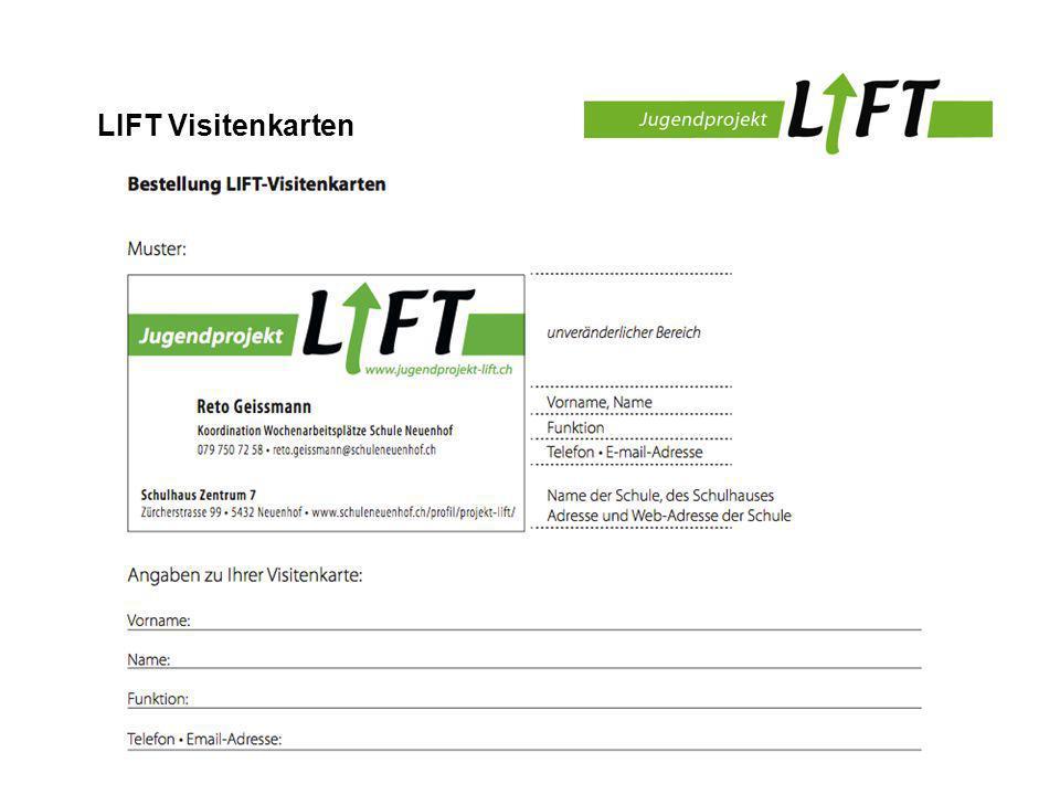 LIFT Visitenkarten
