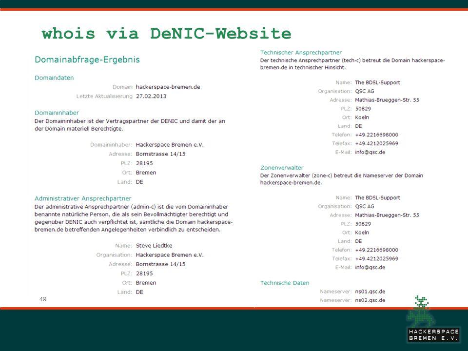 49 whois via DeNIC-Website