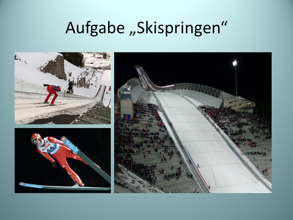 Aufgabe Skispringen