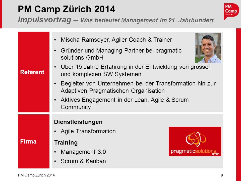 Mischa Ramseyer, Agiler Coach & Trainer Gründer und Managing Partner bei pragmatic solutions GmbH Über 15 Jahre Erfahrung in der Entwicklung von gross