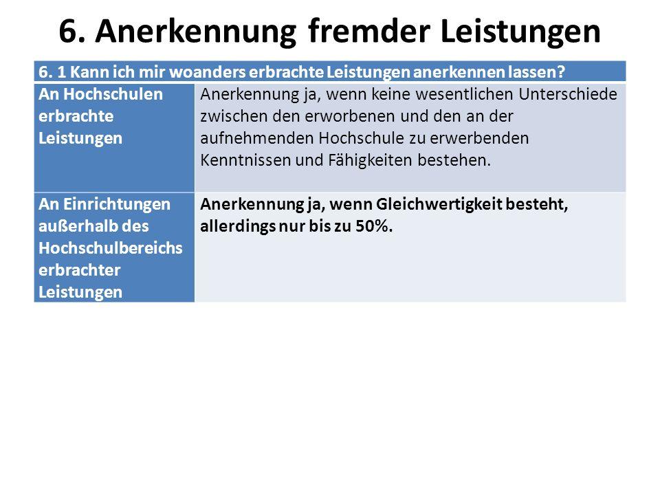 6.2Anerkennungen Anträge für die Anerkennung von Leistungen Unter: http://www.haw-hamburg.de/ws-w/formulare-und-antraege.html Anerkennung Unter: http://www.haw-hamburg.de/department- wirtschaft/studienberatung/anerkennung-von-woanders-erbrachten-leistungen.htmlhttp://www.haw-hamburg.de/department- wirtschaft/studienberatung/anerkennung-von-woanders-erbrachten-leistungen.html Immatrikulierte Studierende können ihre woanders erbrachten Leistungen anerkennen lassen, sofern sie gleichwertig sind.