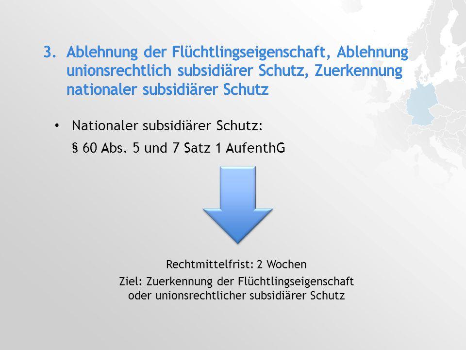 Nationaler subsidiärer Schutz: § 60 Abs.