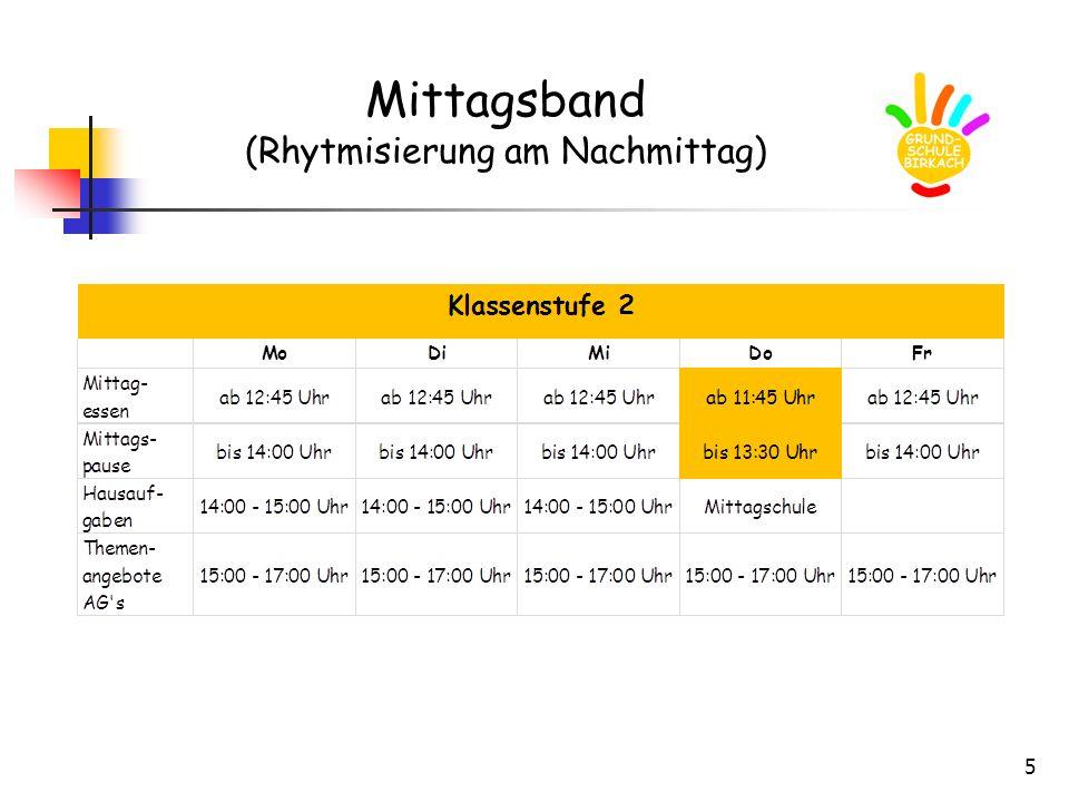 6 Mittagsband (Rhythmisierung am Nachmittag)