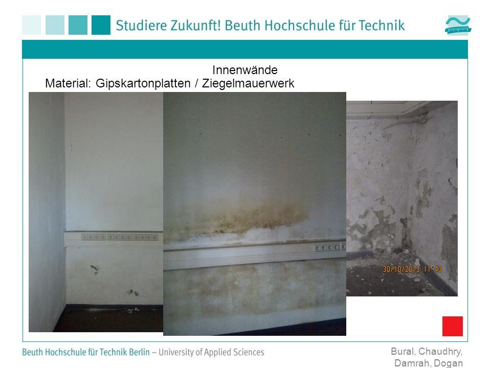 Innenwände Material: Gipskartonplatten / Ziegelmauerwerk Bural, Chaudhry, Damrah, Dogan