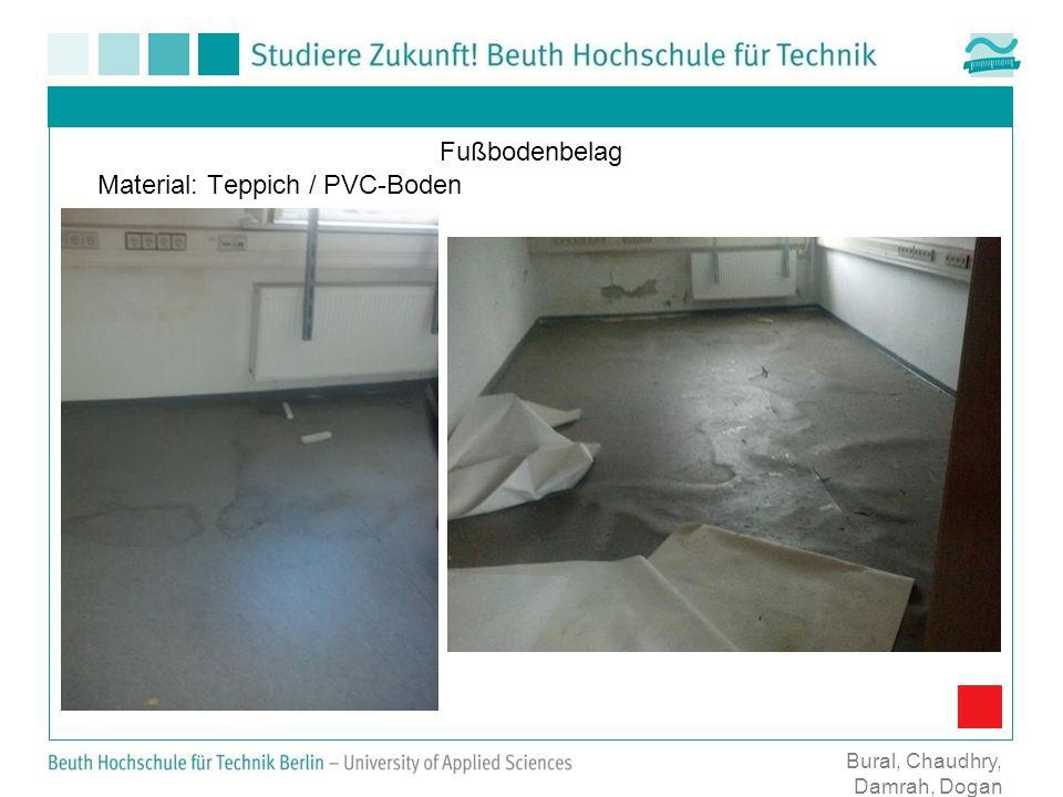 Fußbodenbelag Material: Teppich / PVC-Boden Bural, Chaudhry, Damrah, Dogan