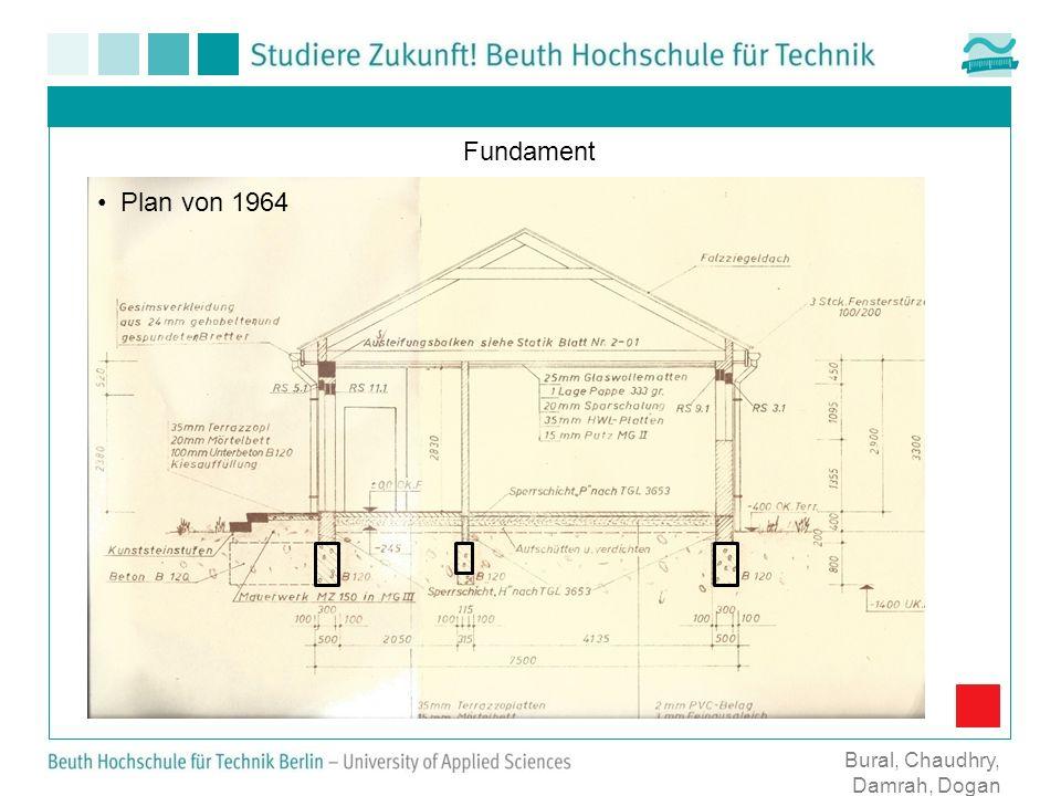 Fundament Bural, Chaudhry, Damrah, Dogan Plan von 1964