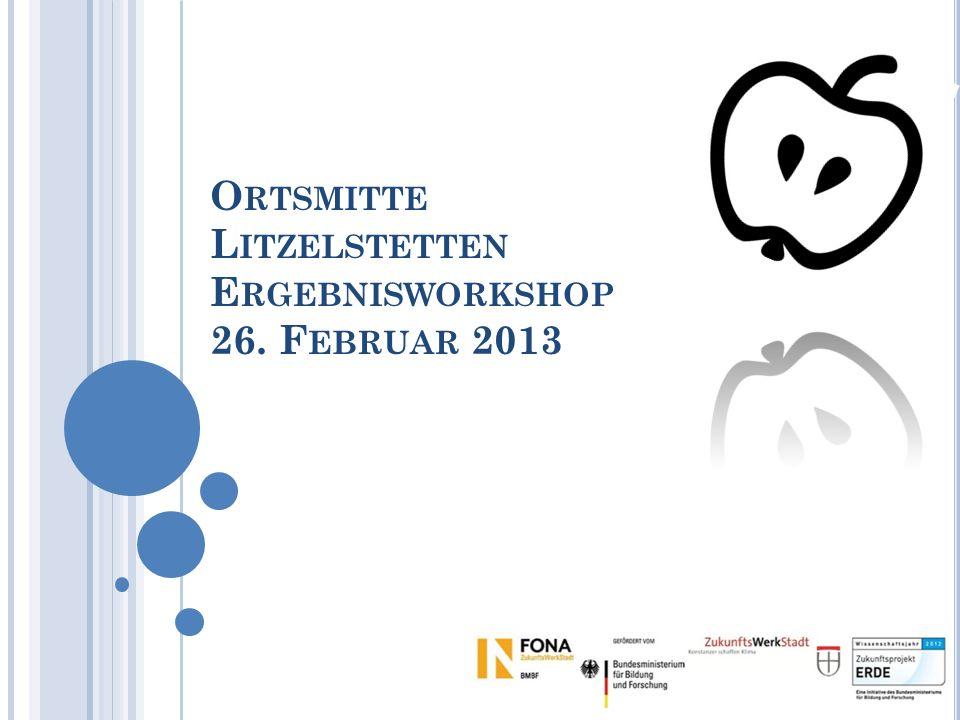 O RTSMITTE L ITZELSTETTEN E RGEBNISWORKSHOP 26. F EBRUAR 2013