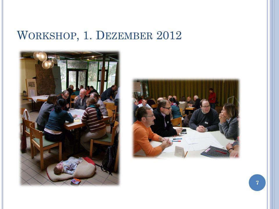W ORKSHOP, 1. D EZEMBER 2012 7