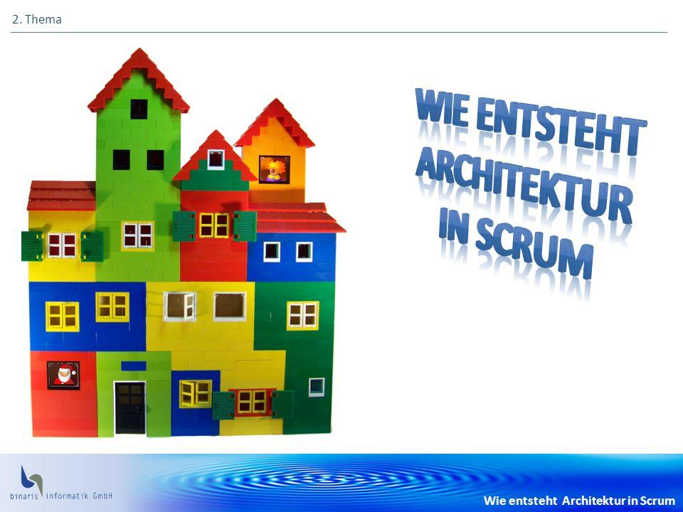 Wie entsteht Architektur in Scrum 2. Thema