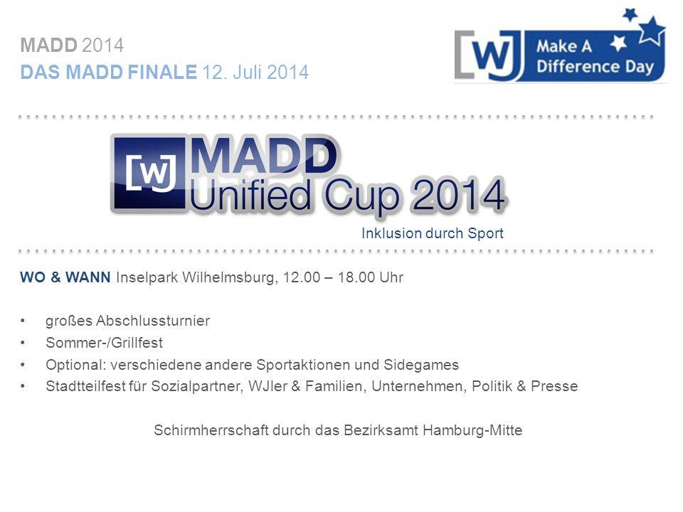 MADD 2014 IHR ANSPRECHPARTNER Für alle Fragen rund um das Thema MADD Unified Cup: Herr/ Frau XXXX Wirtschaftsjunioren Hamburg MOBI MAIL Wir danken für Ihre Unterstützung und freuen uns auf den Dialog mit Ihnen!