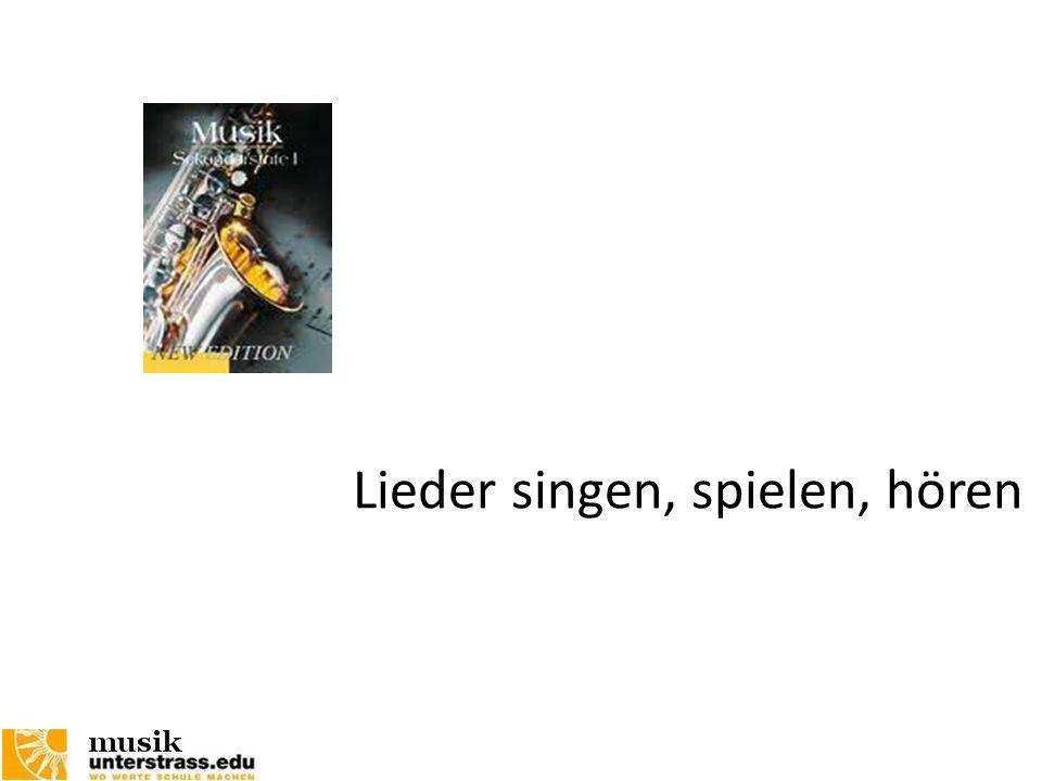 Lieder singen, spielen, hören