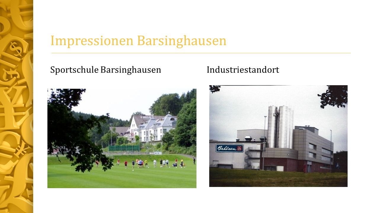 Impressionen Barsinghausen Sportschule BarsinghausenIndustriestandort