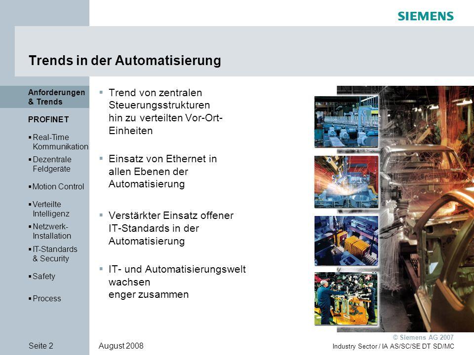 © Siemens AG 2007 Vielen Dank