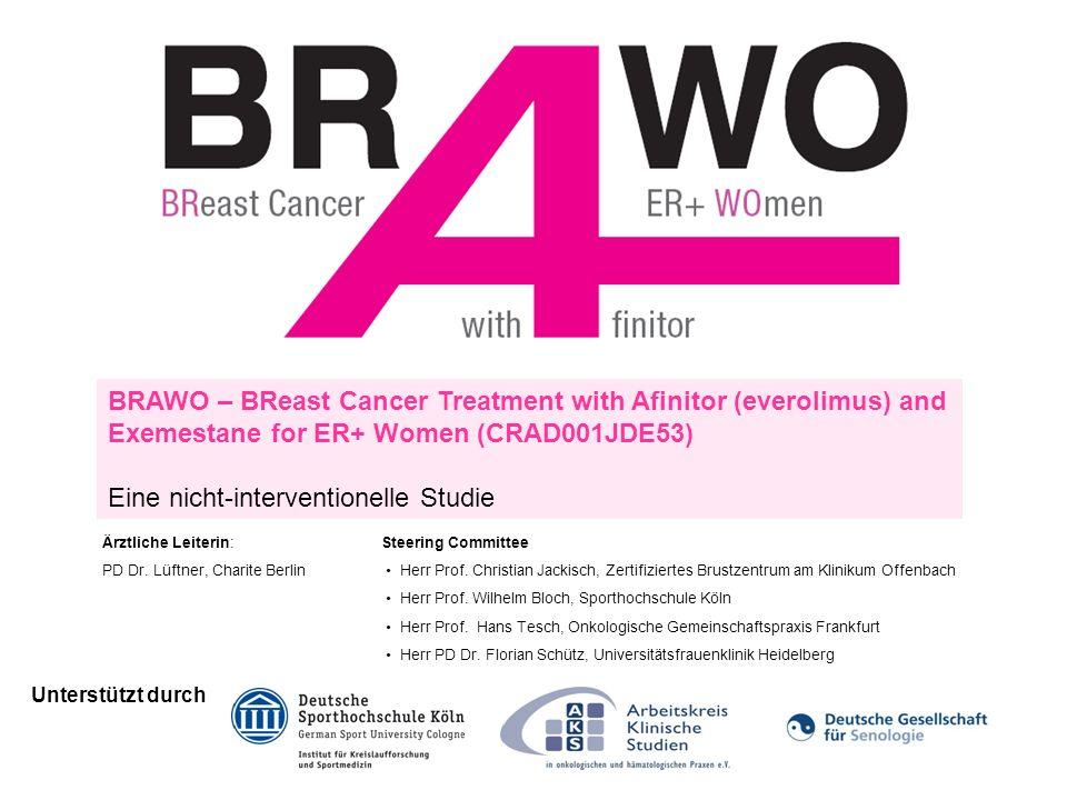 BRAWO – BReast Cancer Treatment with Afinitor (everolimus) and Exemestane for ER+ Women (CRAD001JDE53) Eine nicht-interventionelle Studie Unterstützt durch Ärztliche Leiterin: PD Dr.