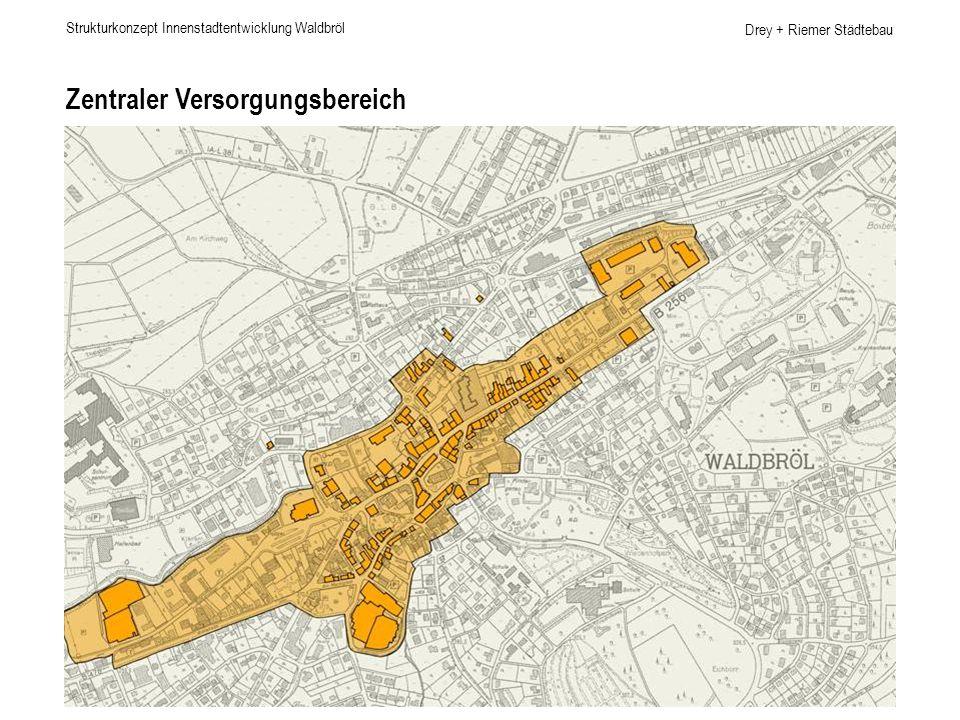 Drey + Riemer Städtebau Zentraler Versorgungsbereich Strukturkonzept Innenstadtentwicklung Waldbröl