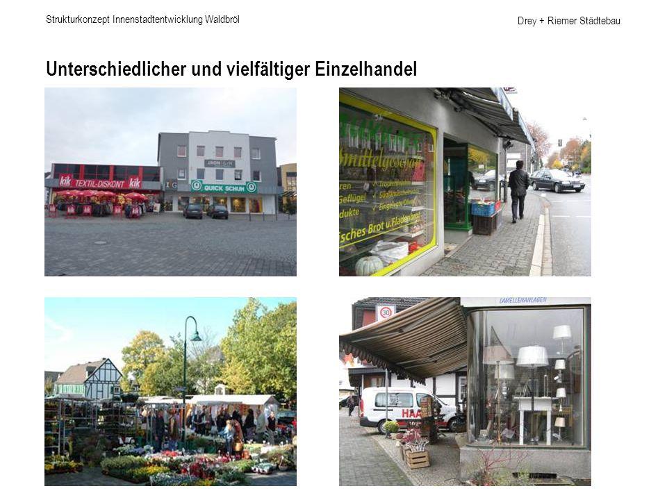 Drey + Riemer Städtebau Unterschiedlicher und vielfältiger Einzelhandel Strukturkonzept Innenstadtentwicklung Waldbröl
