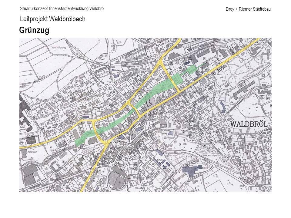 Drey + Riemer Städtebau Leitprojekt Waldbrölbach Grünzug Strukturkonzept Innenstadtentwicklung Waldbröl