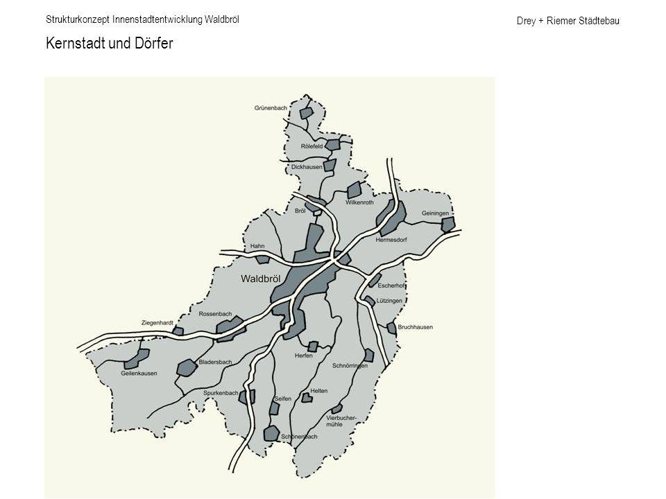Drey + Riemer Städtebau Planungsgebiet Strukturkonzept Innenstadtentwicklung Waldbröl