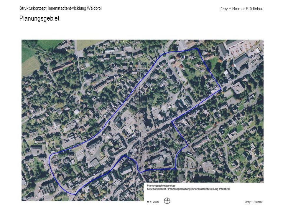 Drey + Riemer Städtebau Innenstadt - Nähe zur Landschaft Strukturkonzept Innenstadtentwicklung Waldbröl