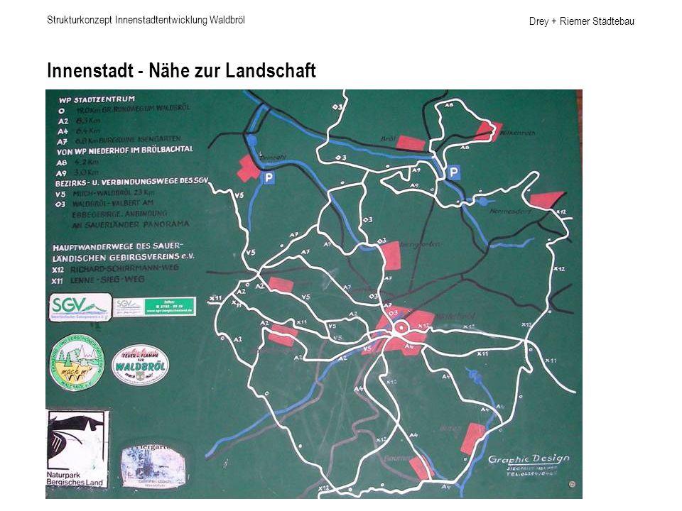 Drey + Riemer Städtebau Innenstadt Nord-Süd-Verknüpfung Strukturkonzept Innenstadtentwicklung Waldbröl