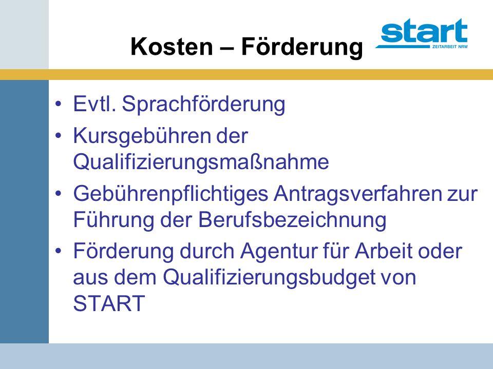 Kosten – Förderung Evtl.