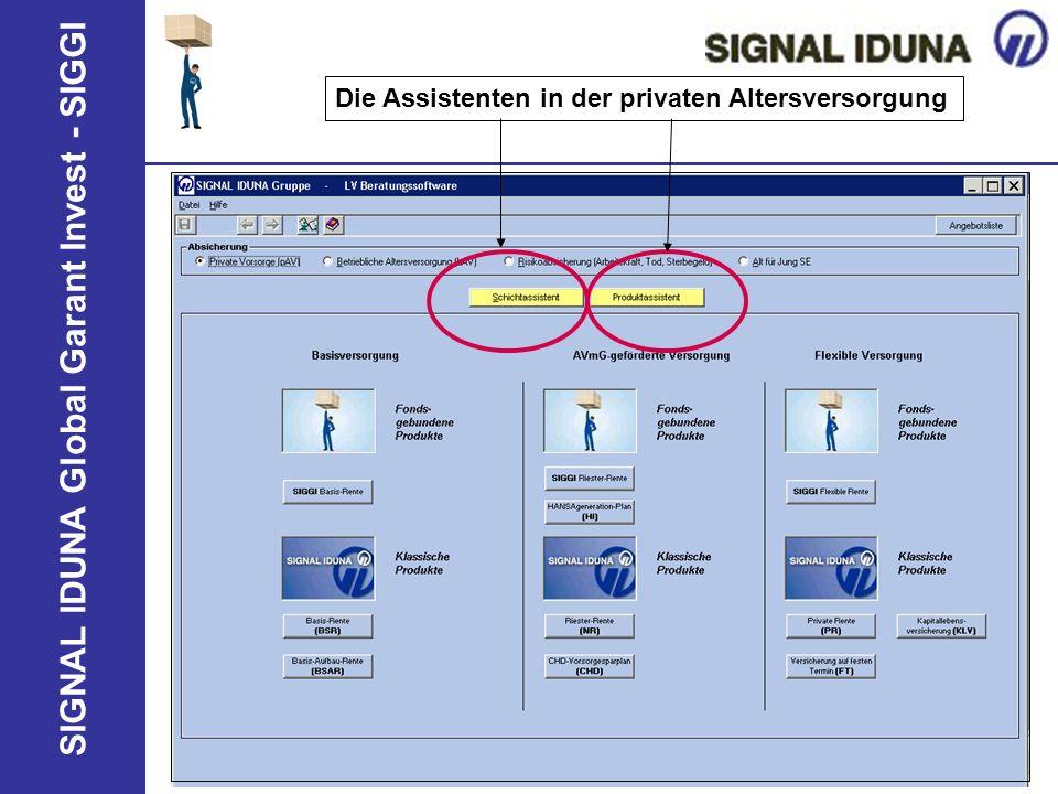 SIGNAL IDUNA Global Garant Invest - SIGGI Die Assistenten in der privaten Altersversorgung