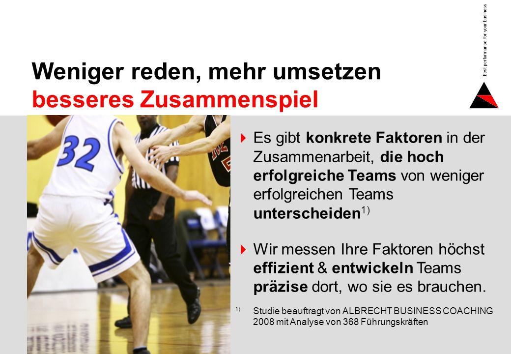 Seite 2 Best performance for your business Weniger reden, mehr umsetzen besseres Zusammenspiel Es gibt konkrete Faktoren in der Zusammenarbeit, die ho