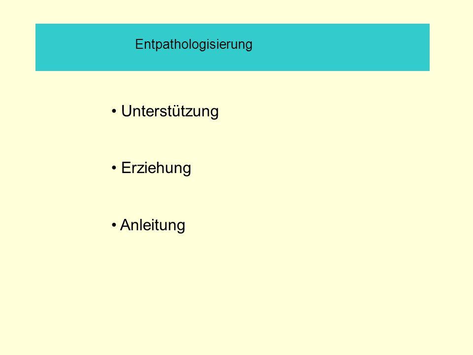 Entpathologisierung Unterstützung Erziehung Anleitung