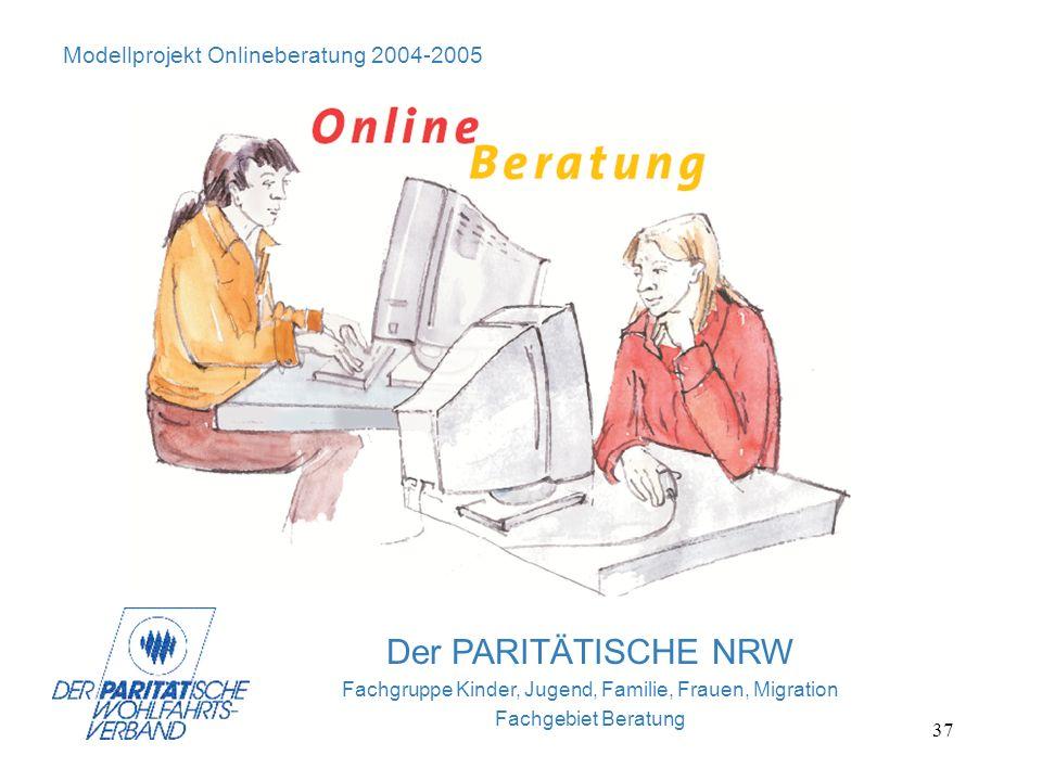 37 Bild Onlineberatung Der PARITÄTISCHE NRW Fachgruppe Kinder, Jugend, Familie, Frauen, Migration Fachgebiet Beratung Modellprojekt Onlineberatung 200