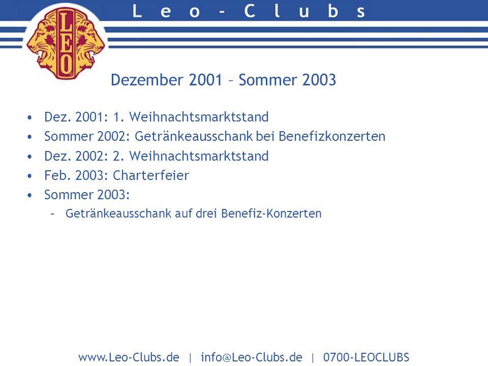 www.Leo-Clubs.de | info@Leo-Clubs.de | 0700-LEOCLUBS Dez.