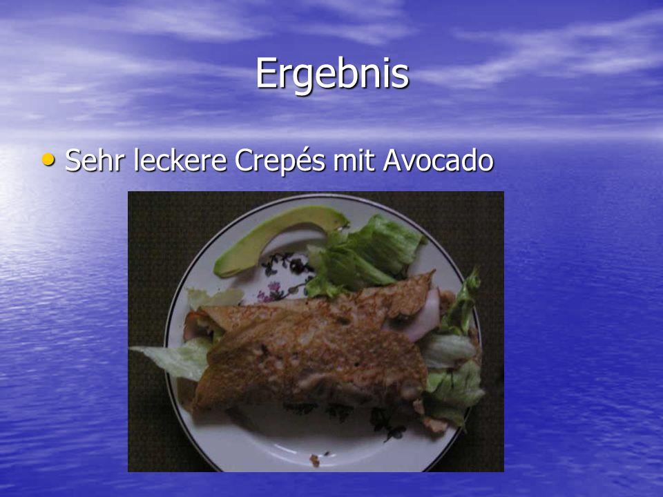 Ergebnis Sehr leckere Crepés mit Avocado Sehr leckere Crepés mit Avocado