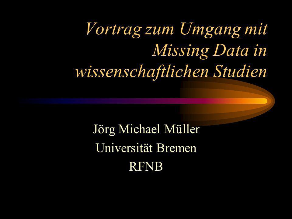 Ziele des Vortrags Überblick: Probleme durch MD Vorschlag: Leitfaden für MD Werkzeuge: SAS-Makros