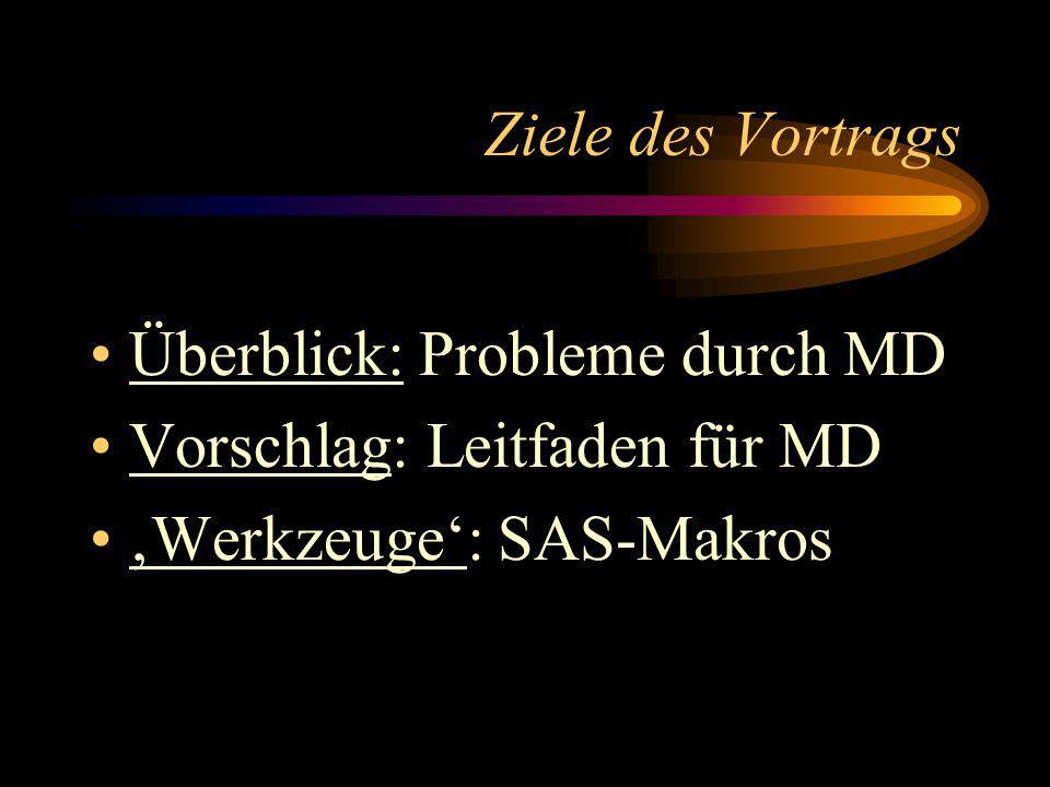 Leitfaden Teil II: Analyse 6.Analysieren der MD-Gesamtmenge 7.