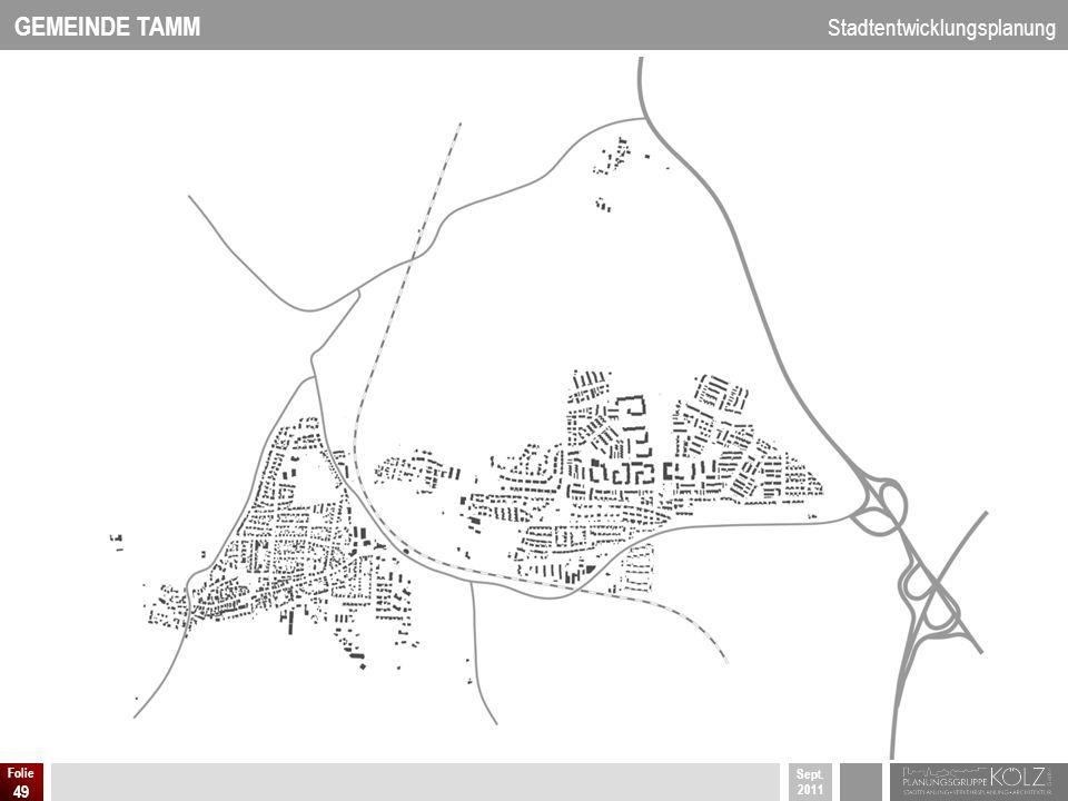 GEMEINDE TAMM Stadtentwicklungsplanung Sept. 2011 Folie 49