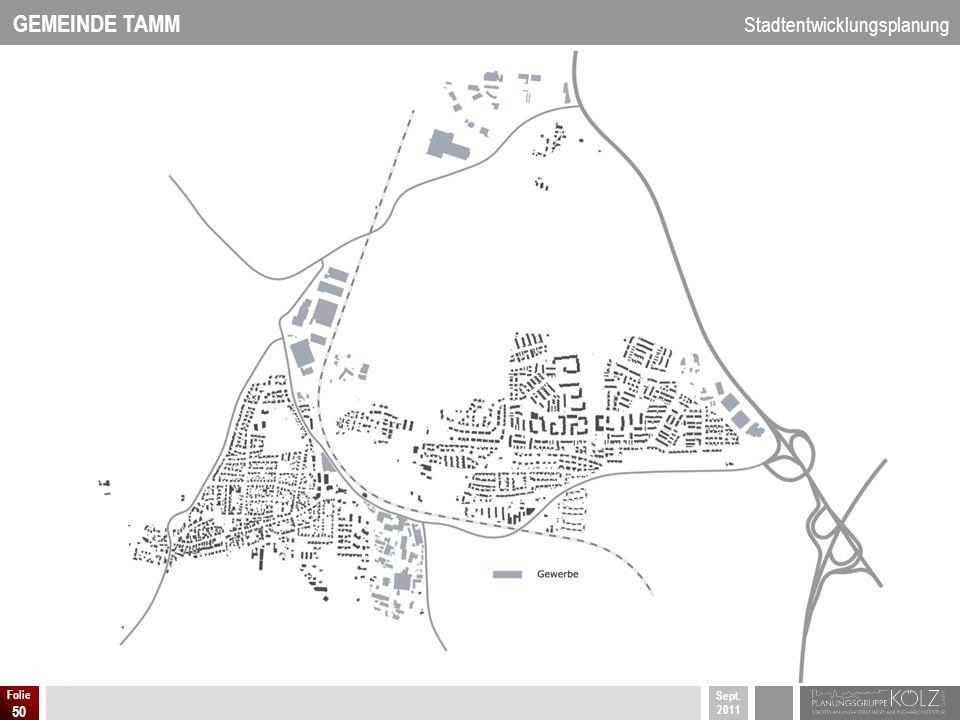 GEMEINDE TAMM Stadtentwicklungsplanung Sept. 2011 Folie 50