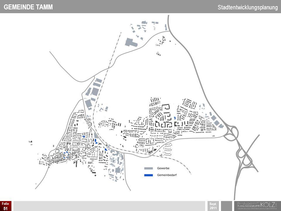 GEMEINDE TAMM Stadtentwicklungsplanung Sept. 2011 Folie 51