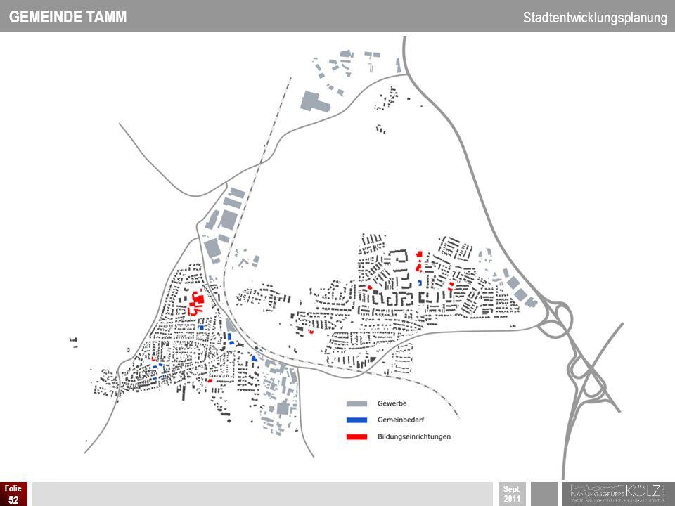 GEMEINDE TAMM Stadtentwicklungsplanung Sept. 2011 Folie 52