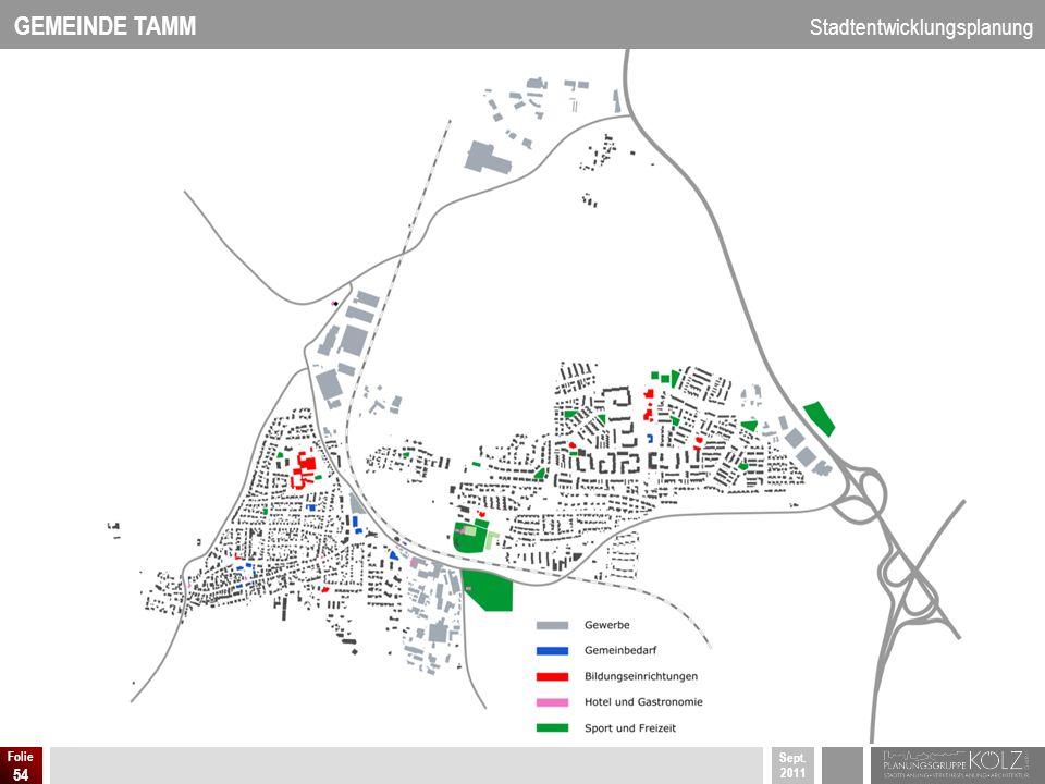 GEMEINDE TAMM Stadtentwicklungsplanung Sept. 2011 Folie 54