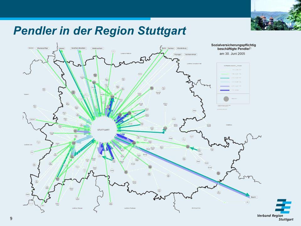 9 Pendler in der Region Stuttgart