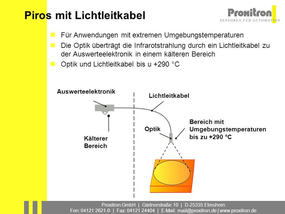 Proxitron GmbH | Gärtnerstraße 10 | D-25335 Elmshorn Fon: 04121 2621-0 | Fax: 04121 24404 | E-Mail: mail@proxitron.de | www.proxitron.de Piros mit Lic