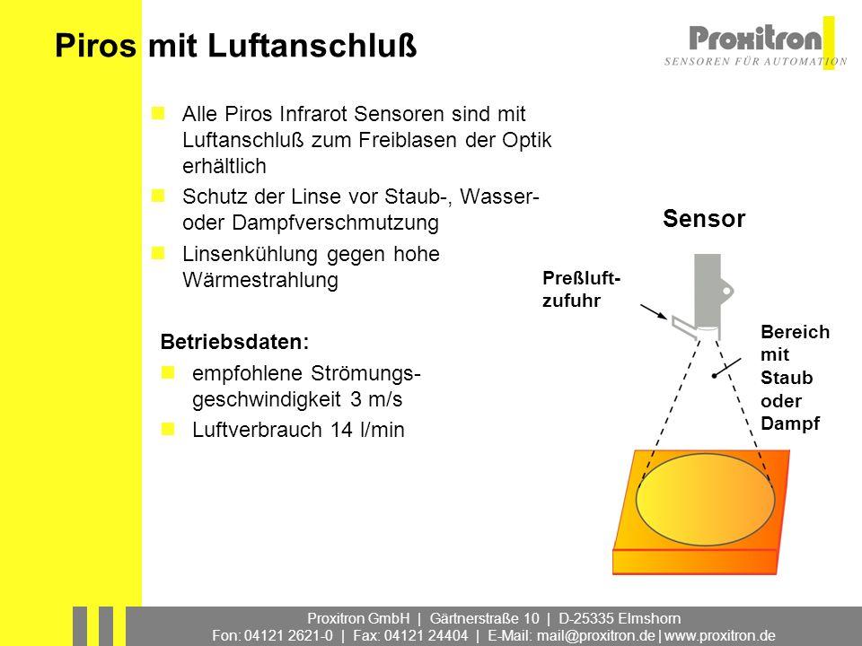 Proxitron GmbH | Gärtnerstraße 10 | D-25335 Elmshorn Fon: 04121 2621-0 | Fax: 04121 24404 | E-Mail: mail@proxitron.de | www.proxitron.de Piros mit Luf