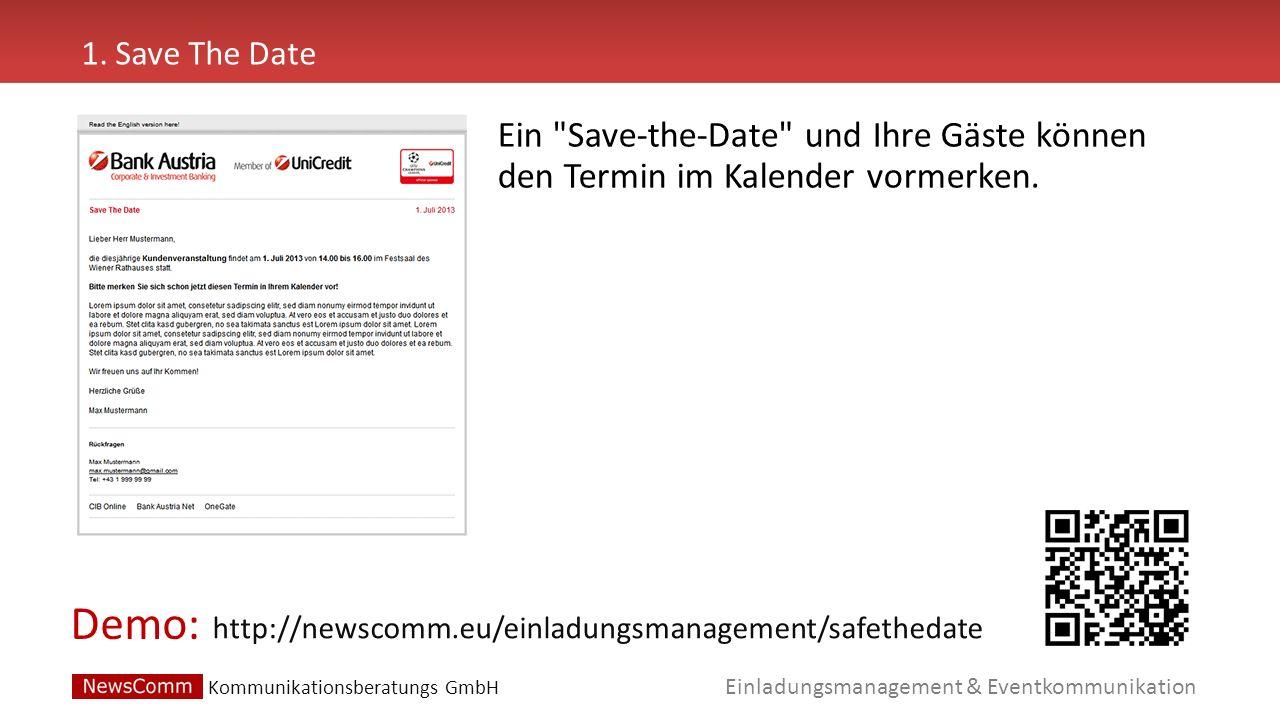 Demo: Einladungsmanagement & Eventkommunikation 2.