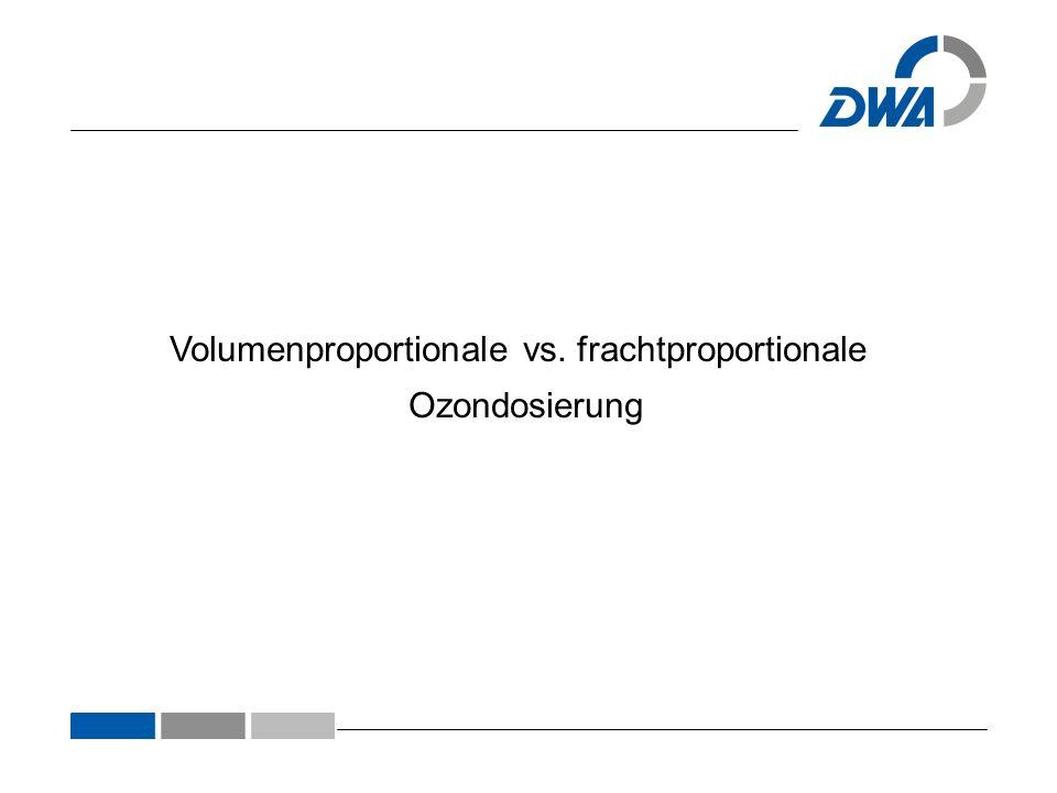 Volumenproportionale vs. frachtproportionale Ozondosierung