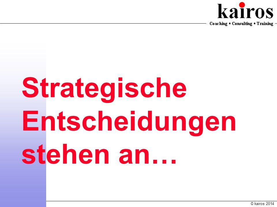 © kairos 2014 Katholische Kirche in Deutschland: Kennwerte, Trends und Prognosen Strategische Entscheidungen stehen an…