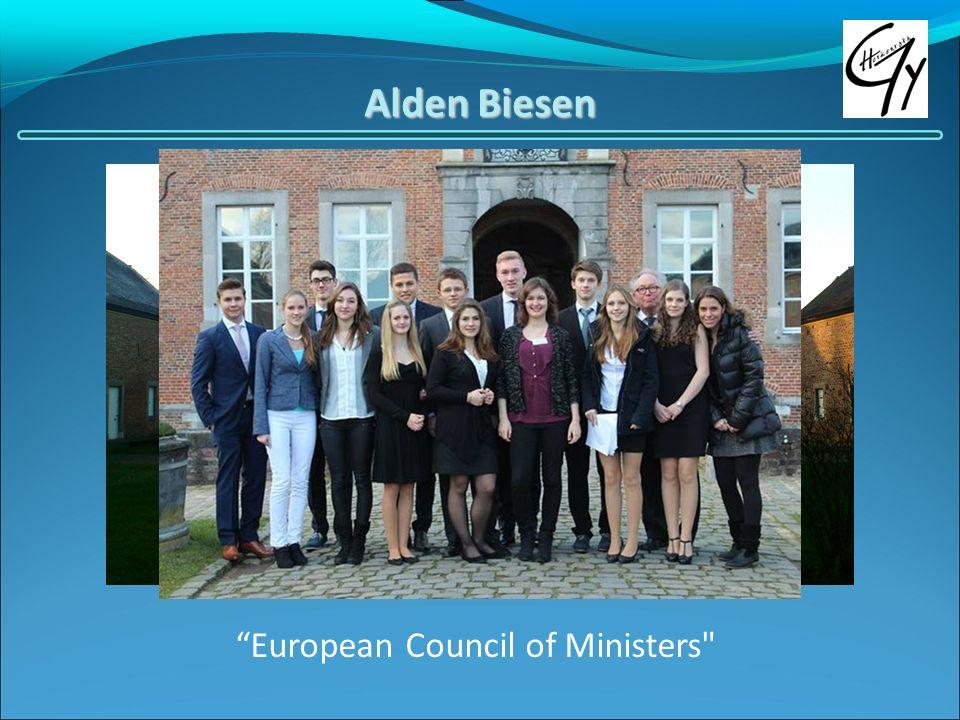 Alden Biesen European Council of Ministers