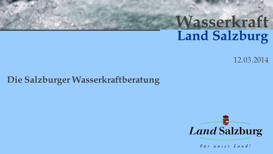 Die Salzburger Wasserkraftberatung 12/XX hydropower 12.03.2014 Messe Salzburg Fluss Einlaufbauwerk Leitung Kraftwerk P = 40 kW Ausleitung Restwasser FAH Beispiel – Umsetzung -Investitionskosten 600.000 P neu = 68 kW Restwasserturbine P zusätzl.